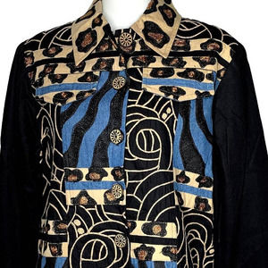 Vintage Anage Animal Patchwork Jacket L